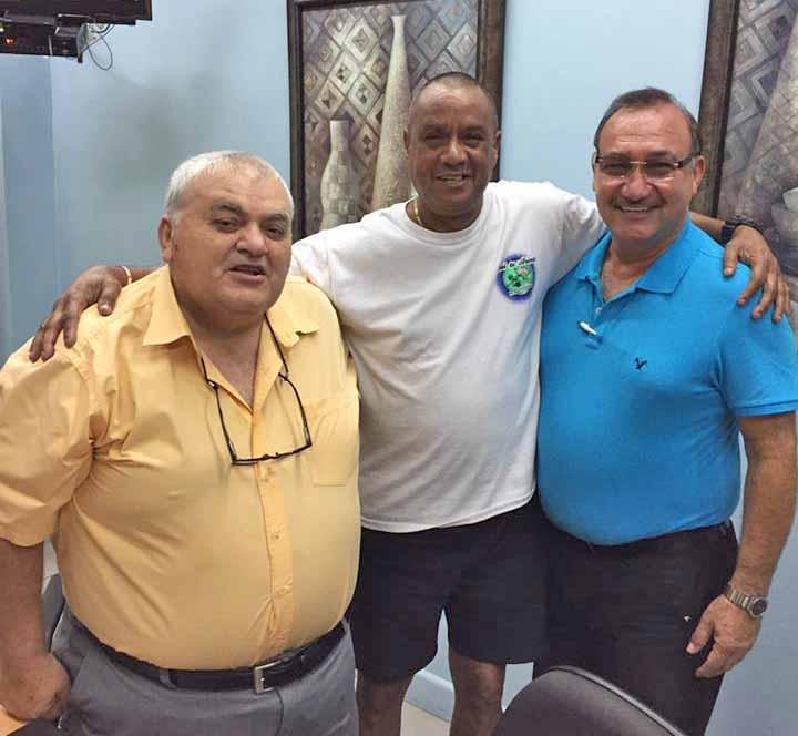 Former Arima Mayors: Ghassan Youseph, Elvin Edwards and George Hadeed